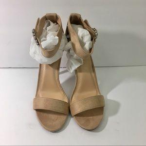 Chase + Chloe tan suede sandal